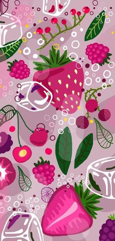 59 Ideas Fruit Pattern Design Wallpapers For 2019 Summer Wallpaper, Pink Wallpaper, Screen Wallpaper, Cool Wallpaper, Pattern Wallpaper, Wallpaper Backgrounds, Disney Wallpaper, Galaxy Wallpaper, Fruit Illustration
