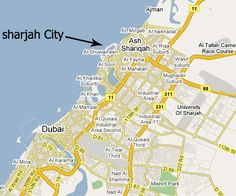 City Sightseeing Sharjah Bus Route Map UAE Places to visit