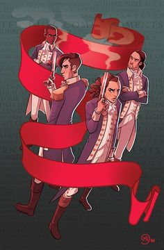 """My """"Ten Duel Commandments"""" illustration for the amazing booklet put together for the cast of Hamilton! 45 artists illustrating 46 songs from the Hamilton musical. Hamilton Musical, Hamilton Soundtrack, Hamilton Broadway, Hamilton Lin Manuel, Lin Manuel Miranda, Charles Lee Hamilton, Theatre Nerds, Musical Theatre, Theater"""