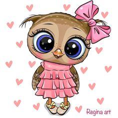 Cow Cartoon Images, Cute Owl Cartoon, Cartoon Birds, Cute Owl Drawing, Cartoon Owl Drawing, Cartoon Mignon, Owl Png, Owl Clip Art, Heart Background
