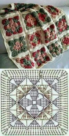 How to Crochet a Solid Granny Square:separator:How to Crochet a Solid Granny Squ. : How to Crochet a Solid Granny Square:separator:How to Crochet a Solid Granny Square Crochet Motifs, Crochet Blocks, Granny Square Crochet Pattern, Crochet Mandala, Crochet Chart, Crochet Squares, Crochet Granny, Crochet Blanket Patterns, Crochet Flowers