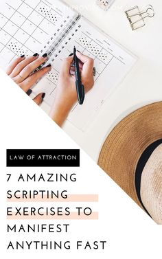 Scripting is one of the most powerful Law of Attraction tools. Try these 7 easy scripting exercises to manifest the life you truly want. Manifestation Journal, Manifestation Law Of Attraction, Law Of Attraction Affirmations, Spiritual Manifestation, Law Of Attraction Love, Law Of Attraction Planner, Manifesting Money, Meditation For Beginners, Money Quotes