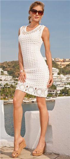 La robe blanche avec le réseau. Parlez-en à LiveInternet - service russe des journaux en ligne