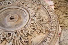 Savvy Southern Style: Year in Review  Ceiling Medallion painted with chalk paint