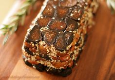"""Fig and Almond """"Cake"""" with Rosemary, Anise and Sesame Seeds"""