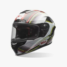 Bell Race Star Triton Helmet, Carbon shell, jade-infused liner, and race-bred design. The viewport & venting of the Race Star are riding #vehicles#bicycle-helmet #helmet #motorcycle-helmet