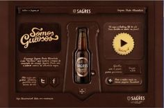 Sagres, a famous Portuguese Brewery (now owned by Heineken) recruited Portugal's leading chocolatier Victor Nunes to fashion a template made to look like a website using chocolate as his canvas.
