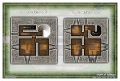 Tabletop maps for adventure gaming with models, designed with a one inch grid for role-playing games such as Dungeons and Dragons. Adventure Map, Adventure Games, One Upper, Playing Games, Miniture Things, Dungeons And Dragons, Tabletop, Grid, Maps
