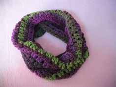 Πλεκτος Λαιμος. Crochet Infinity Scarf Tutorial