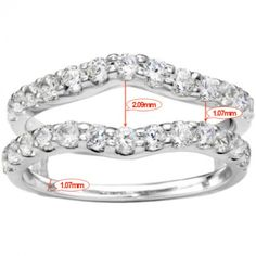 Double Shared Prong Curved Ring Guard (0.24 Carat)
