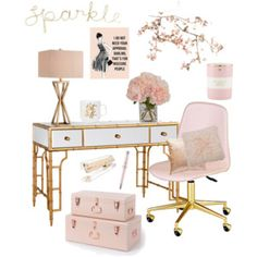 Little pink home office