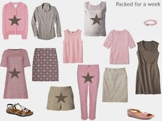 Warm Weather Travel in Brown and Pink - Step by Step