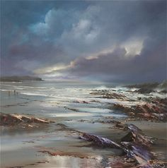 "The Sea Calls, 36"" x 36"", Oil on canvas painting - part of the Pure Shores collection from Philip Gray"