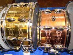 Engraved Slingerland Snares at the Chicago Drum Show