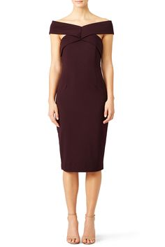 Rent Marsala Be Still Dress by FINDERS KEEPERS for $40 only at Rent the Runway.