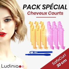 Pack SafeCurl by Ludinia® Fibres, Abs, Packing, Lock Of Hair, Dry Hair, Shirt Hair, Curling Iron Curls, Woman, Bag Packaging