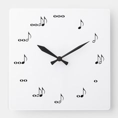 Shop The One Of A Kind Square Music Note Clock White created by CustomizedCreationz. Music Guitar, My Music, Cleaning Drawing, Cute Presents, Music For Kids, Telling Time, Music Lessons, Learn To Read, Music Notes