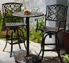 Small patio table and chairs bistro set outdoor ideas