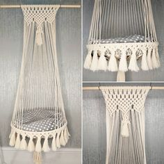 Yarn Wall Art, Cat Basket, Macrame Patterns, Crochet Patterns, Christmas Wall Hangings, Wooden Poles, Cat Hammock, Recycled Yarn, Plant Wall