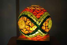 Mosaic Garden, Mosaic Art, Mosaic Glass, Mosaic Bowling Ball, Glass Ball, Lanterns, Lights, Deco, Glasses