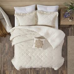 August Grove Spiritwood Lake Comforter Set | Birch Lane Farmhouse Bedding Sets, Rustic Comforter, King Comforter, Comforter Sets, Ruffle Bedding, Linen Bedding, Bed Linen, Classic Bedding Sets, Quilt Sets
