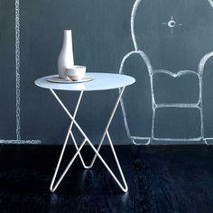 Modern slimline iron side table Primula by Cosatto Contemporary Furniture, Contemporary Design, Coffee Table Design, Coffee Tables, Italian Furniture, Small Tables, Coffee Shop, Furniture Design, Table Lamp