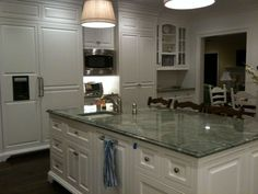 Charmant The Granite Gurus: Slab Sunday: Costa Smeralda Granite Green Granite  Kitchen, Green Granite