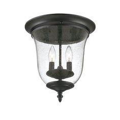 Belle Matte Black Outdoor Ceiling Lighting Fixture $124