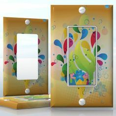 DIY Do It Yourself Home Decor - Easy to apply wall plate wraps | Summer Sweets  Ice cream with flowers  wallplate skin sticker for 1 Gang Decora LightSwitch | On SALE now only $3.95