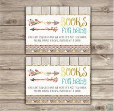 Hey, I found this really awesome Etsy listing at https://www.etsy.com/listing/252546850/book-request-insert-arrow-baby-shower
