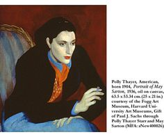 Portrait of May Sarton, by Polly Thayer
