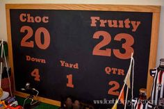 DIY football scorebo