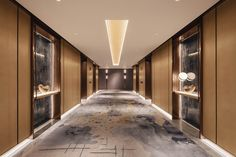 View the full picture gallery of InterContinental Zhuhai(YANG & Associates Group) Hotel Lobby Design, Resort Interior, Zhuhai, Hotel Corridor, Elevator Lobby, Human Centered Design, Hallway Designs, Wall Design, Contemporary Design