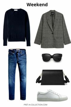 Mode Outfits, Chic Outfits, Fashion Outfits, Fall Winter Outfits, Winter Fashion, Saturday Outfit, Blue Jean Outfits, Capsule Wardrobe Work, Looks Chic