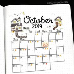 October 2019 marks my official countdown to my wedding! I'll be very busy trying to balance a new job and night school for the next school… Bullet Journal Lists, Bullet Journal Mood, Bullet Journal Layout, Bullet Journal Inspiration, Bullet Journals, Art Journals, Journal Ideas, Bill Payment Checklist, Night School