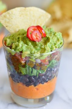 7 Layer Sweet Potato Bean Dip | vegan, dairy free, and gluten free appetizer for everyone | Luci's Morsels :: LA Healthy Food Blog