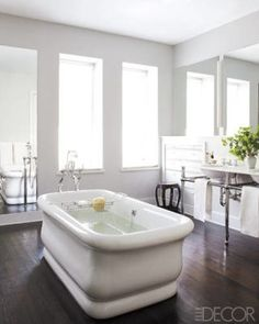Chic White Bathrooms - ELLEDecor.com