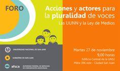 Desde la UNSJ, el Gobierno de San Juan y el AFSCA, se organizó una jornada con la presencia de representantes de todos los sectores involucrados. Será el 27 de Noviembre y participará el Director Nacional de Planeamiento y Coordinación Universitaria, del Ministerio de Educación de la Nación, Mg. Daniel López.