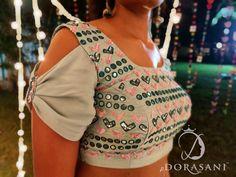 Saree Jacket Designs, Choli Blouse Design, Stylish Blouse Design, Saree Blouse Neck Designs, Fancy Blouse Designs, Choli Designs, Sleeves Designs For Dresses, Designer Blouse Patterns, Sarees