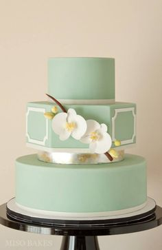 Featured Wedding Cake: Miso Bakes; Daily Wedding Cake Inspiration (New!). To see more: http://www.modwedding.com/2014/08/04/daily-wedding-cake-inspiration-new-6/ #wedding #weddings #wedding_cake Featured Wedding Cake: Miso Bakes;