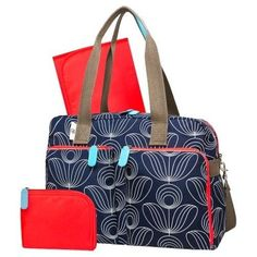 094354f38867 Bags 57748  New With Tags Orla Kiely Target Navy Diaper Bag Satchel Tote  3Pc.