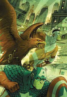 Captain America & Falcon by Niko Henrichon