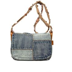 65da21d8b6 Patricia Nash Denim Denim Patchwork Rosa Square Flap Bag ( 149) ❤ liked on  Polyvore featuring bags