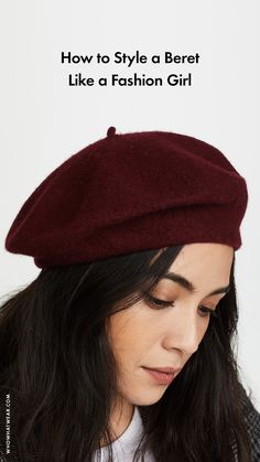 How to wear a beret Outfits With Hats, Boho Outfits, Fashion Outfits, Ladies Fashion, Work Fashion, French Hat, Beret Outfit, Red Berets, Hats For Women