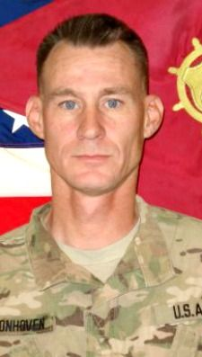Army SGT. Mark H. Schoonhoven, 38, of Plainwell, Michigan. Died January 20, 2013, serving during Operation Enduring Freedom. Assigned to  32nd Transportation Company, 43rd Sustainment Brigade, 4th Infantry Division, Fort Carson, Colorado. Died at Brooke Army Medical Center, Fort Sam Houston, Texas from wounds suffered when enemy forces attacked his unit with an improvised explosive device on Dec. 15, 2012 in Kabul, Afghanistan.