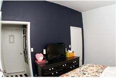 painting a wall navy blue (with tutorial!)