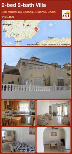 2-bed 2-bath Villa in San Miguel De Salinas, Alicante, Spain ►€130,000 #PropertyForSaleInSpain