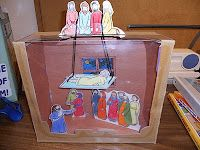 Visual for the Story made from a box! Jesus heals the paralysed man