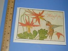 Vintage current inc art greeting card by michael hague hague vintage current inc michael hague art greeting card hummingbird m4hsunfo