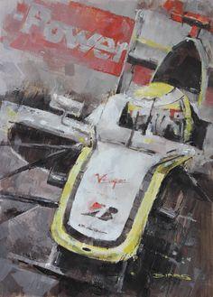 Champion - Jenson Button Part of a tripytch of three British F1 Champions